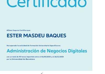 diploma administracion negocios digitales ester masdeu baques