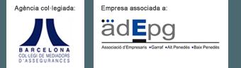 Masdeu està associacia a adEPg i és agència col·legiada al col·legi de Mediadors d'Assegurances de Barcelona